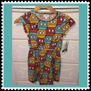 LulaRoe Mickey Mouse NWT girls dress size 8❤️